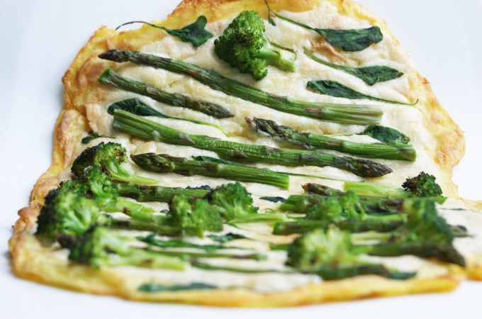 Kartoffelpizza Grün/Weiß