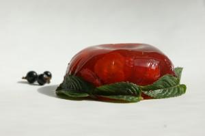 Erdbeersülze mit Minze