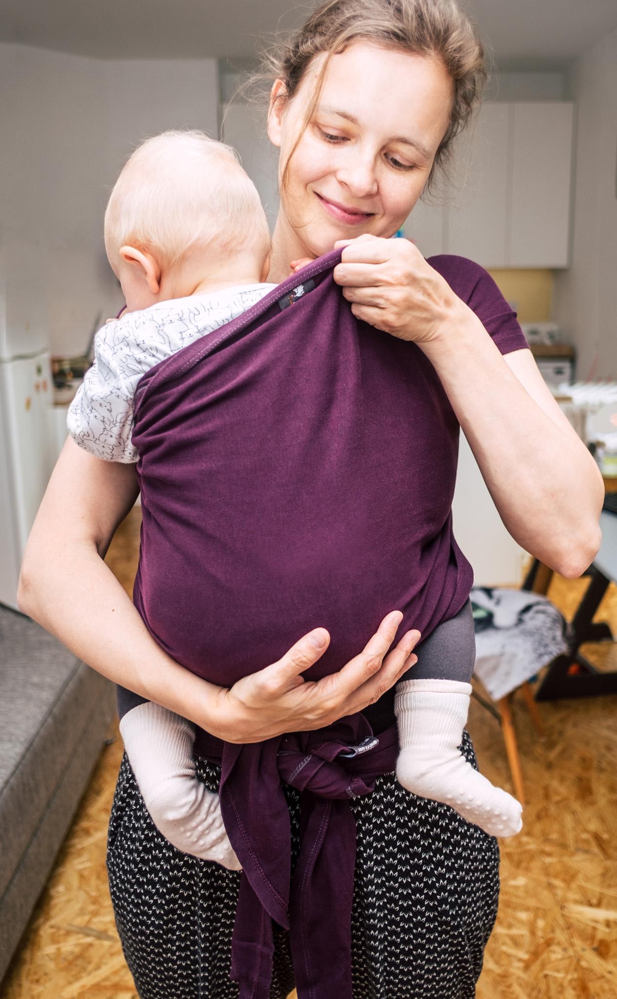 Babyausstattung Liste elastisches Tragetuch