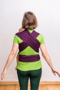 elastisches Tragetuch Erfahrungen Rückenansicht
