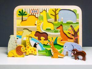 Montessori Geschenke Holzpuzzle Janod