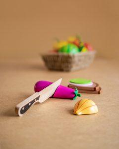 Spielzeug Lebensmittel aus Holz