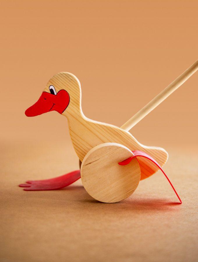 Holzspielzeug Watscheltier Ente