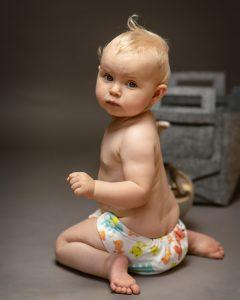 Zero Waste Baby mit Stoffwindeln
